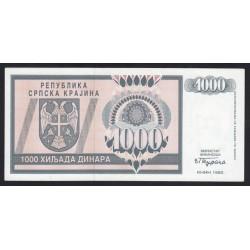 1000 dinara 1992