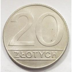 20 zlotych 1990