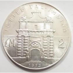 2 liri 1973 - Ta'l-Imdina gate