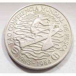 100 dobras 1984 - World Fisheries Conference