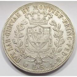 5 lire 1826 P - Kingdom of Sardinia
