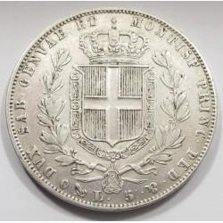 5 lire 1848 P - Kingdom of Sardinia