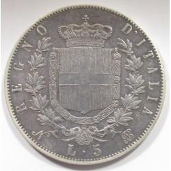 5 lire 1864