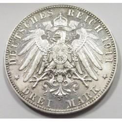 3 mark 1911 D PROOF - Bayern