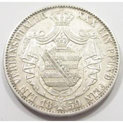 1 vereinsthaler 1859 F - Sachsen