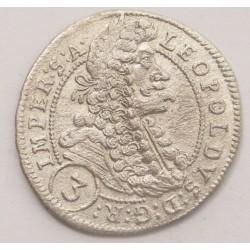 Leopold I. 3 kreuzer 1698 GE - Prague