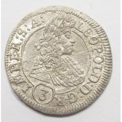 Leopold I. 3 kreuzer 1695 GE - Prague