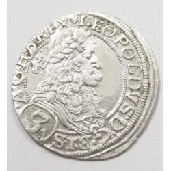 Leopold I. 3 kreuzer 1670 - Vienna