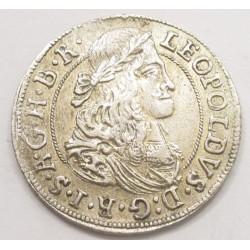 Leopold I. 3 kreuzer 1671 - Hall