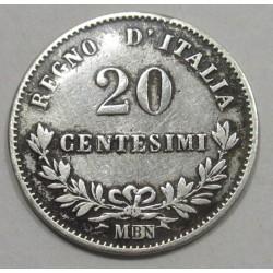 20 centesimi 1863 M BN