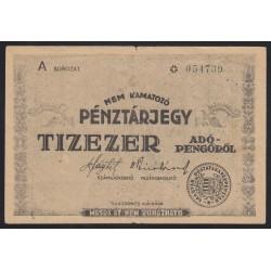 10000 adópengõ 1946 pénztárjegy