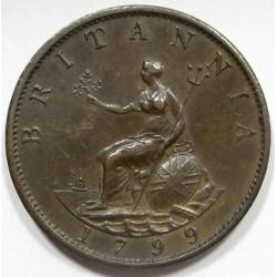 1/2 penny 1799