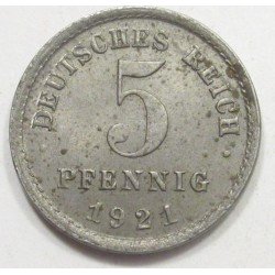 5 pfennig 1921 E