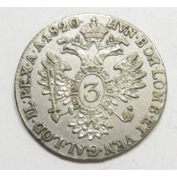 Franz II. 3 kreuzer 1820 B