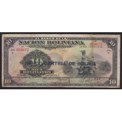 10 bolivianos 1911