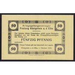 50 pfennig 1915 - Kriegsgefangenenlager Königstein