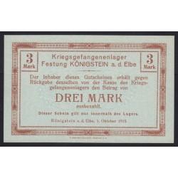 3 mark 1915 - Kriegsgefangenenlager Königstein