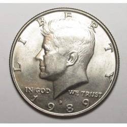 half dollar 1989 D