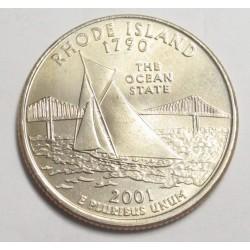 quarter dollar 2001 P - Rhode Island