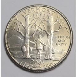 quarter dollar 2001 P - Vermont