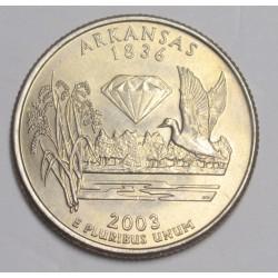 quarter dollar 2003 P - Arkansas