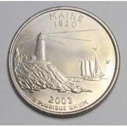 quarter dollar 2003 D - Maine