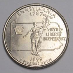 quarter dollar 1999 P - Pennsylvania