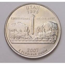 quarter dollar 2007 D - Utah
