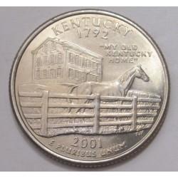 quarter dollar 2001 D - Kentucky