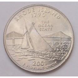 quarter dollar 2001 D - Rhode Island