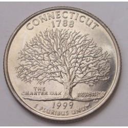 quarter dollar 1999 D - Connecticut