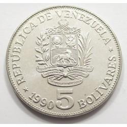 5 bolivares 1990
