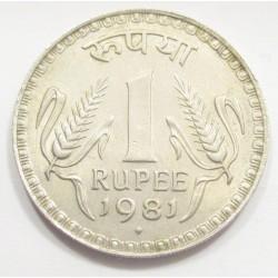1 rupee 1981 - star