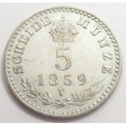 5 kreuzer 1859 V