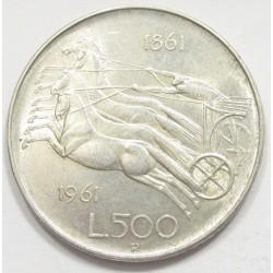 500 lira 1961 - Italian Unification Centennial