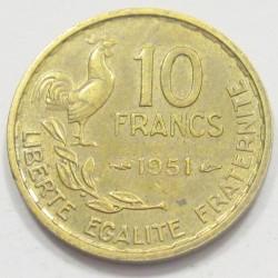10 francs 1951