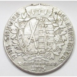 1 mining thaler 1775 EDC - Saxony