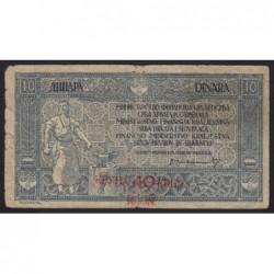 10 dinara/40 kruna 1919