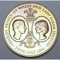 25 pence 1981 - Charles and Diana's wedding