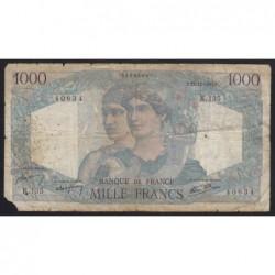 1000 francs 1945