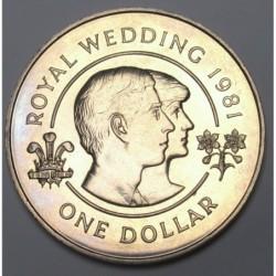 1 dollar 1981 - Királyi esküvõ