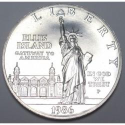 1 dollar 1986 P - Szabadság-szobor az Ellis-szigeten
