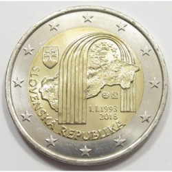 2 euro 2018 - 25th anniversary of the establishment of the Slovak Republic