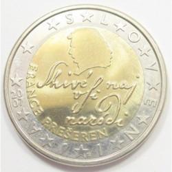 2 euro 2007 - France Preseren Slovene romantic poet
