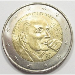 2 euro 2016 - 100th anniversary of the birth of François Mitterrand