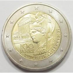 2 euro 2018 - 100 years republic of Austria