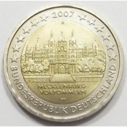 2 euro 2007 D - State of Mecklenburg-Vorpommern