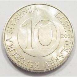 10 tolarjev 2001