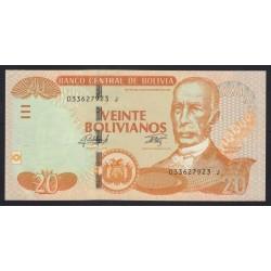 20 bolivianos 2015