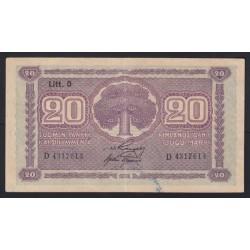 20 markkaa 1939